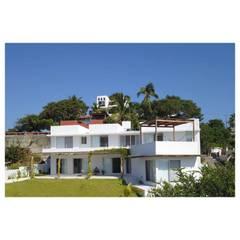Casas mediterrâneas por AWA arquitectos Mediterrâneo Tijolo