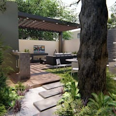 Jardines zen de estilo  por SHarkitectura , Moderno