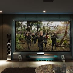Mini Home Theater: modern  by Square Arc Interior,Modern