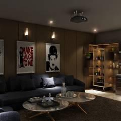 Mini Bar with Sofa Sitting: modern  by Square Arc Interior,Modern