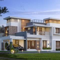 Casas asiáticas por CreoHomes Pvt Ltd Asiático