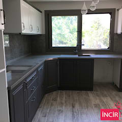 Kitchen units by İncir Dekor, Country Wood Wood effect
