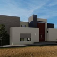 Casa de Descanso Cumbres de Popotla: Casas de campo de estilo  por CONSTRUYE IDEAS, Moderno