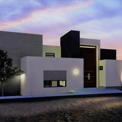 Casa de Descanso Cumbres de Popotla: Casas de campo de estilo  por CONSTRUYE IDEAS, Moderno Concreto