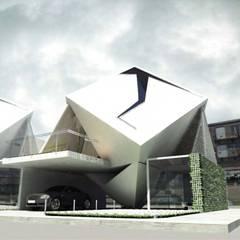 Cube House: Casas ecológicas de estilo  por AGE/Alejandro Gaona Estudio, Moderno Derivados de madera Transparente