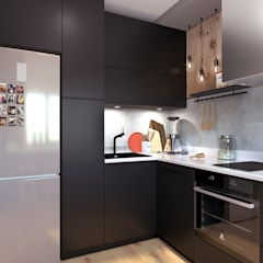 Built-in kitchens by Ассоль Уколова, Industrial Wood Wood effect