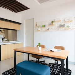 Estudios y oficinas estilo escandinavo de 愛上生活室內設計 Escandinavo