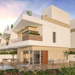 Casas unifamiliares de estilo  por ARQUIJOVEN SLP, Mediterráneo