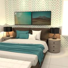 Kleine slaapkamer door Joana Rezende Arquitetura e Arte, Modern