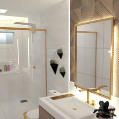 Casa Clássica: Banheiros  por Joana Rezende Arquitetura e Arte,Moderno