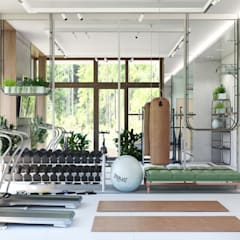 Gym by Interior designers Pavel and Svetlana Alekseeva, Industrial