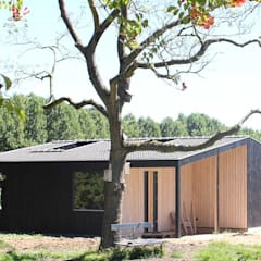 Country style study/office by marcus architecten Country Wood Wood effect