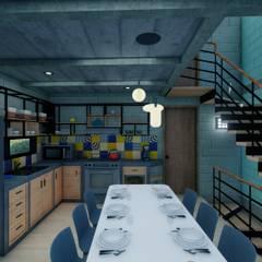 Cocinas pequeñas de estilo  por Arq. Rodrigo Culebro Sánchez, Industrial