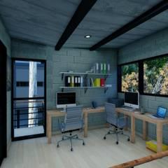 Oficinas de estilo  por Arq. Rodrigo Culebro Sánchez, Industrial
