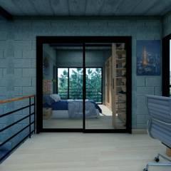 Kleine slaapkamer door Arq. Rodrigo Culebro Sánchez, Industrieel