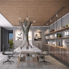 Offices & stores by RIKATA DESIGN, Rustic