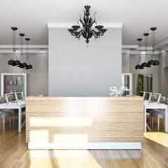 Paredes de estilo  por Елена Малахова студия авторского дизайна, Minimalista Madera Acabado en madera
