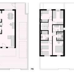 Condominios de estilo  por ARQUIJOVEN SLP, Moderno