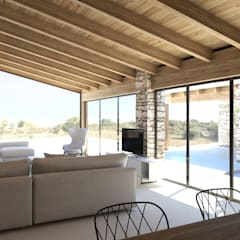 Country style living room by DFG Architetti Associati Country