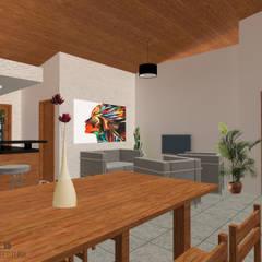 Ampliación Casa MyA Comedores rústicos de DobleVB Arquitectura Rústico