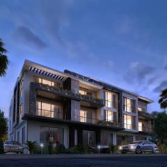 فيلا سكنية:  منزل عائلي كبير تنفيذ Karim Elhalawany Studio, حداثي