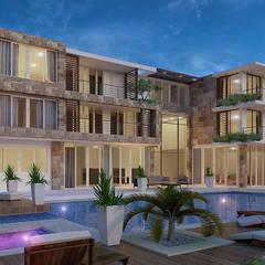 فيلا سكنية:  منزل عائلي صغير تنفيذ Karim Elhalawany Studio, حداثي