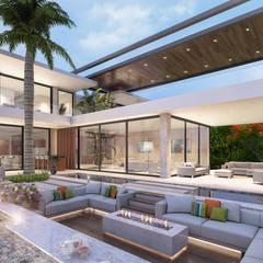 فيلا سكنية فاخرة:  منزل عائلي كبير تنفيذ Karim Elhalawany Studio, حداثي