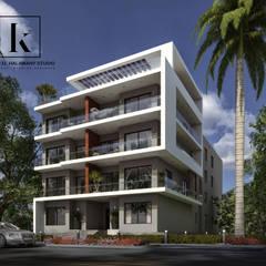 غمارة سكنية:  منزل عائلي كبير تنفيذ Karim Elhalawany Studio, حداثي