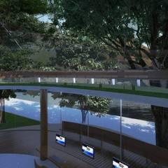 Centro de Referencia Ambiental na Lagoa Rodrigues de Freitas Escritórios modernos por Viviane Cunha Arquitectura Moderno