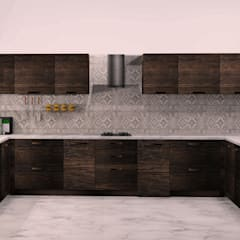 Kitchen units by tanushree Agarwal Designs, Rustic Plywood