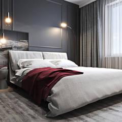 Mieszkanie z bordowym akcentem Nowoczesna sypialnia od Ambience. Interior Design Nowoczesny
