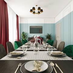 Банкетный зал Евсинской Птицефабрики: Ресторации в . Автор – AKANT Design, Классический Дерево Эффект древесины