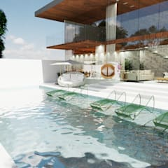 Terrace by Indira Matos, Rustic Glass