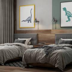 Dormitorios infantiles de estilo  por Interior designers Pavel and Svetlana Alekseeva, Industrial