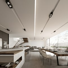 Lujosa Residencia moderna : Comedores de estilo  por Rebora, Moderno Madera maciza Multicolor