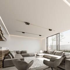 Salas / recibidores de estilo  por Rebora, Minimalista