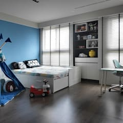 Cuartos pequeños  de estilo  por 子境室內裝修設計工程有限公司, Industrial