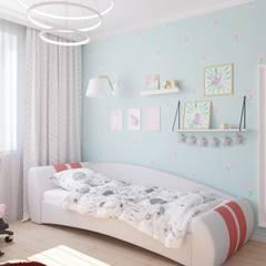 Интерьер квартиры на пр. Строителей *Colors*: Спальни для девочек в . Автор – Дизайн - Центр, Модерн