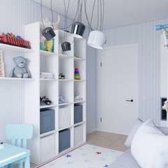 Интерьер квартиры на пр. Строителей *Colors*: Спальни для мальчиков в . Автор – Дизайн - Центр, Модерн