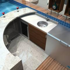 Projeto Casa com Piscina em Monção: Piscinas infinitas  por Arch Design Concept,Moderno Azulejo