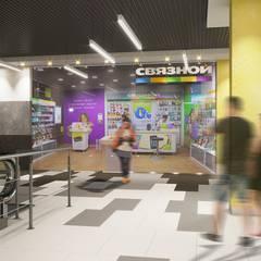 Shoppings y centros comerciales de estilo  por Дизайн - Центр , Minimalista