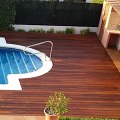 Garden Pool by INDUSTRIAL MORA DE BARNICES, S.L., Mediterranean Solid Wood Multicolored
