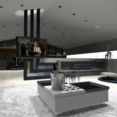 Salas de entretenimiento de estilo moderno de Arch Design Concept Moderno Madera Acabado en madera
