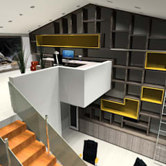 Projeto Completo Espanha Escritórios modernos por Arch Design Concept Moderno Madeira Acabamento em madeira