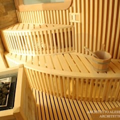 Sauna by Stenal, Modern Wood Wood effect