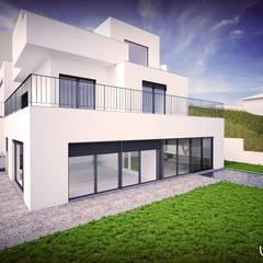 Villas توسطEmprofeira - empresa de projectos da Feira, Lda., مدرن سیمان