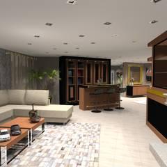 Projeto Completo casa em Monção. Salas de estar clássicas por Arch Design Concept Clássico Madeira Acabamento em madeira