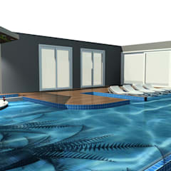 Infinity pool by Arch Design Concept, Modern Tiles