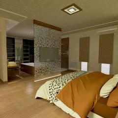 INTERIORES: Dormitorios de estilo  por Aida Tropeano & Asoc.,Moderno