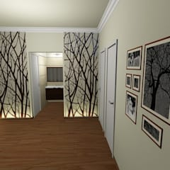 INTERIORES: Pasillos y recibidores de estilo  por Aida Tropeano & Asoc.,Moderno